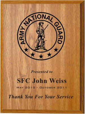 Thank You For Your Service Plaque