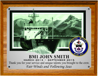 USCGC MAPLE DEPARTURE PLAQUE