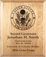 United States Air Force Laser Engraved Plaques from Trophy Express